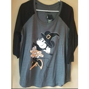 Torrid Minnie Mouse Halloween Raglan 00x NWT